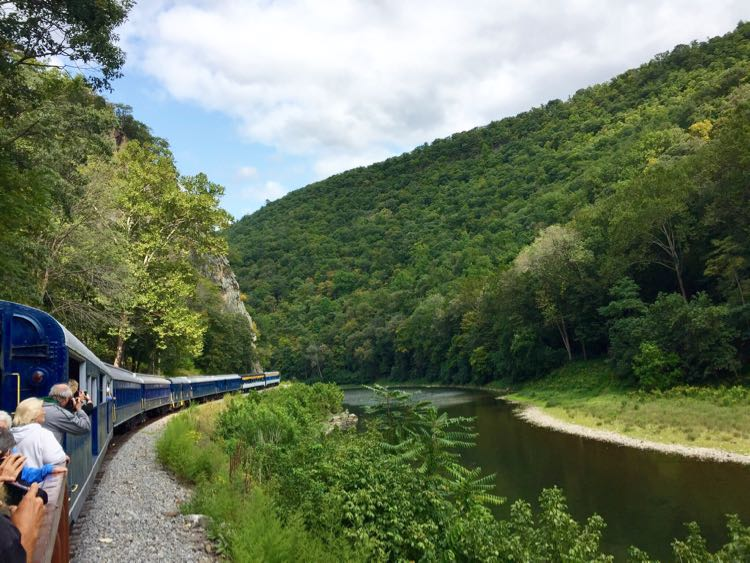 Open air car views Potomac Eagle train Romney WV