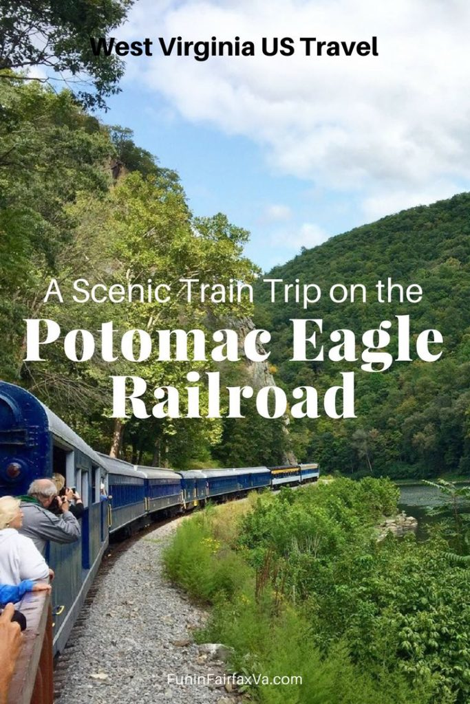 West Virginia US travel. Step back in time, soak up nature's beauty, and spot bald eagles on a Potomac Eagle train trip along the Potomac River South Fork in Romney, West Virginia.