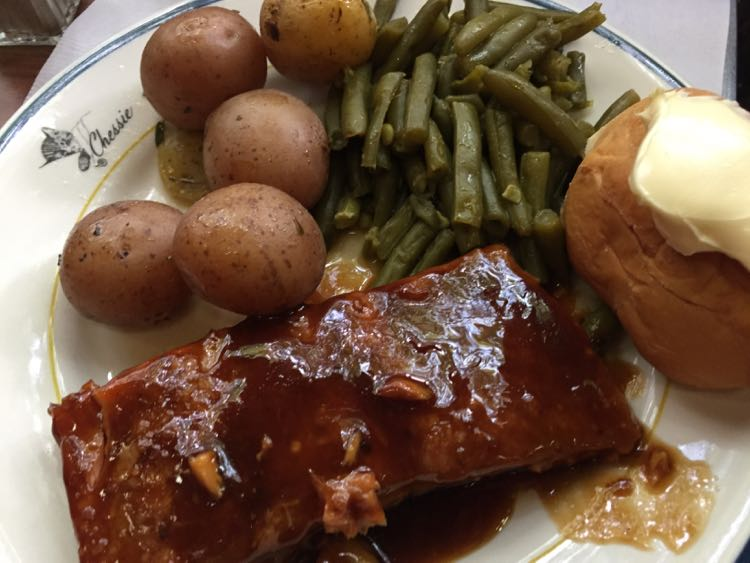 Salmon lunch Potomac Eagle train Romney WV