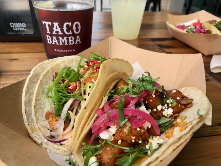Tasty tacos and drinks at Taco Bamba in Vienna VA