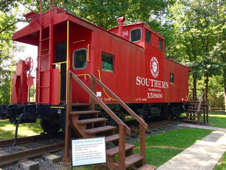 Fairfax Railroad Museum caboose Clifton VA