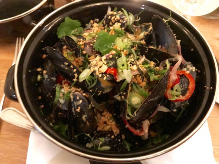 Mussels at Brasserie Saison in Charlottesville VA