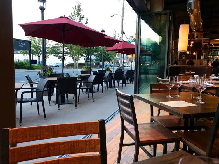 Renewal offers indoor and patio dining in Charlottesville VA