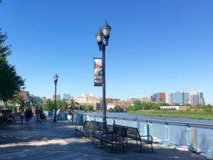 The Wilmington Delaware Riverfront is lined with restaurants and family-friendly activities.