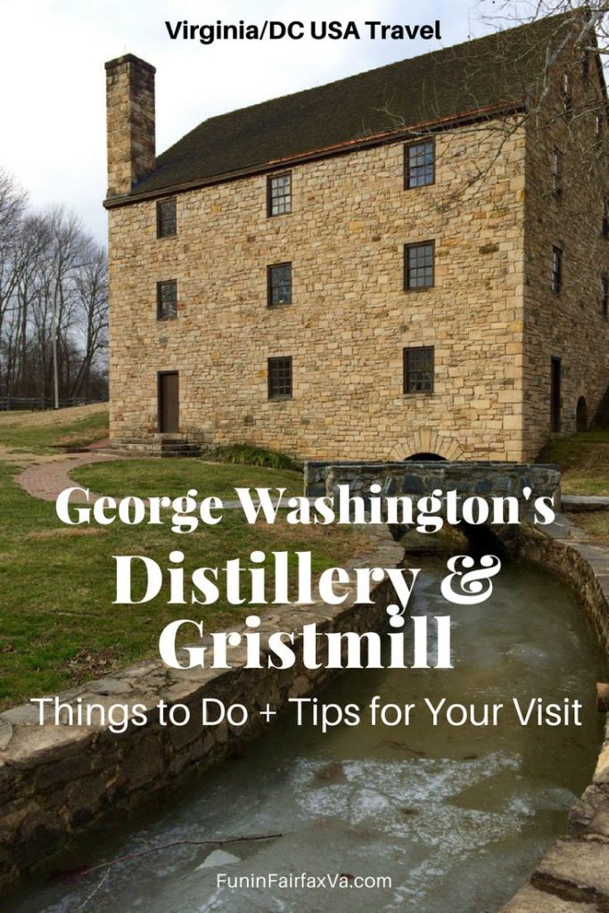 Virginia Washington DC USA Travel and History. George Washington's Distillery and Gristmill, things to do and tips for your visit.