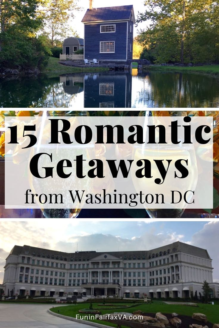 15 fabulous romantic getaways from Washington DC, including charming country inns and luxurious city lodging. that will spark the flames of love.