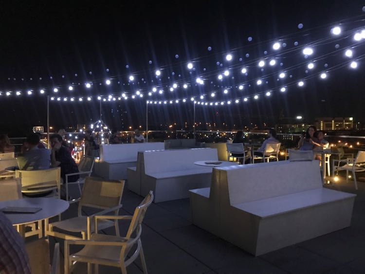 Q rooftop bar at Quirk Hotel in Richmond VA'