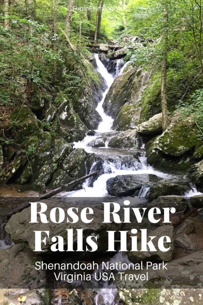 The Rose River Loop Hike is one of the most scenic waterfall hikes in Shenandoah National Park Virginia, following waterfalls and cascades on a wooded 4-mile trail.
