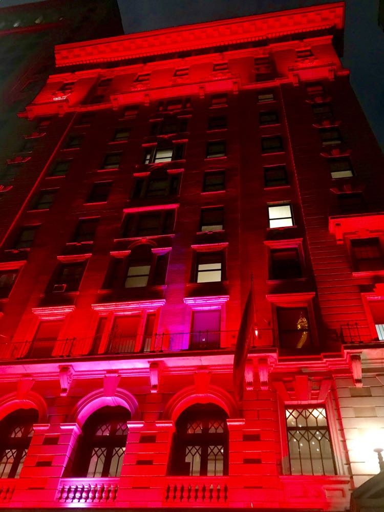 The Redbury hotel at night NYC