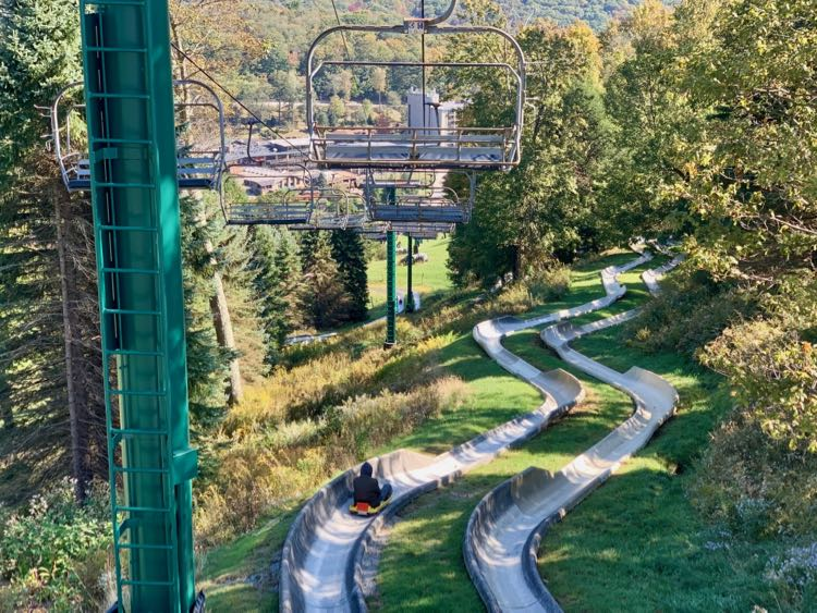 Alpine Slide at Seven Springs Mountain Resort in Pennsylvania