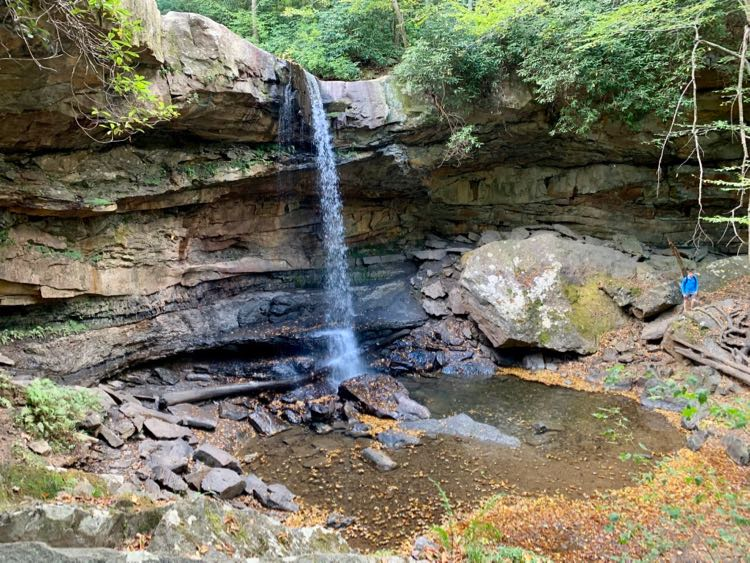 Cucumber Falls in Ohiopyle State Park, Laurel Highlands PA