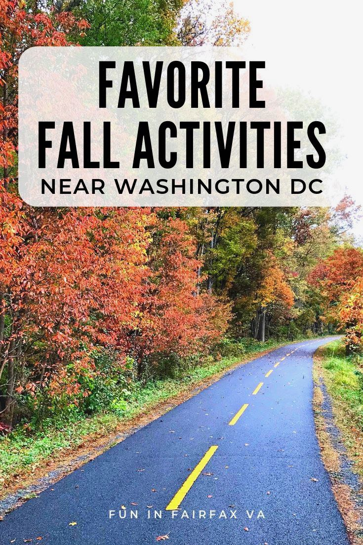 Favorite fall activities in Northern Virginia include festivals, scenic drives, special parks, and Autumn getaways featuring colorful fall foliage and fun near DC.