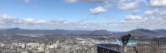 Enjoy beautiful views from Mill Mountain in Roanoke VA