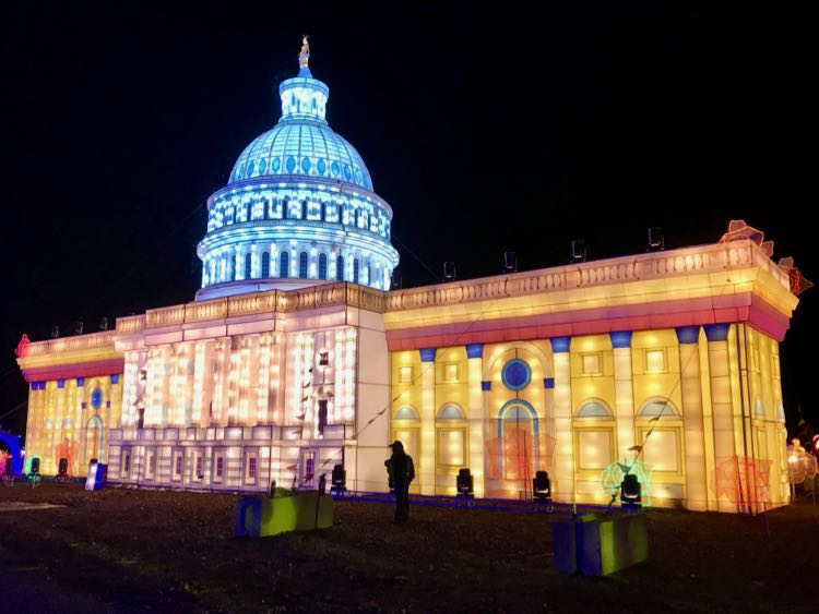 Capitol Building display at LightUp Fest NoVA