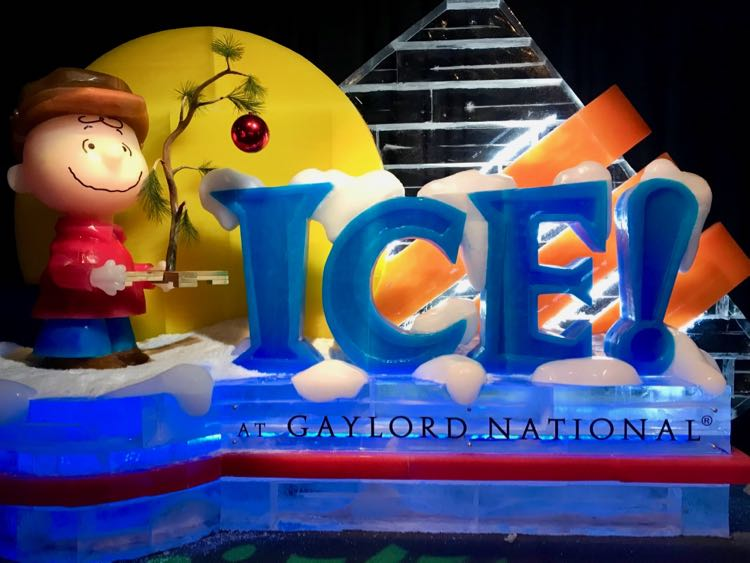 A Charlie Brown Christmas ICE! 2018 at Gaylord National Harbor