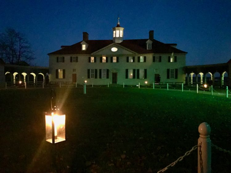 Visit the mansion at night during a Mount Vernon by Candlelight tour.