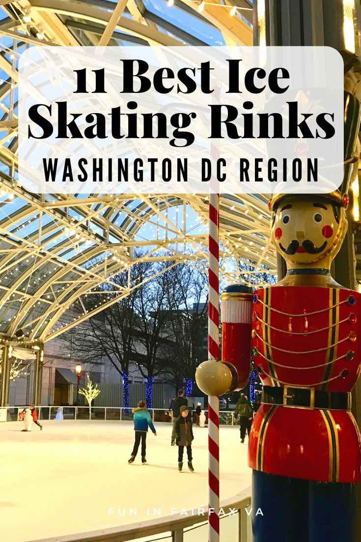 These Washington DC and Northern Virginia ice skating rinks offer smooth ice, happy music, and healthy fun for every age, whether you skate indoors or out.