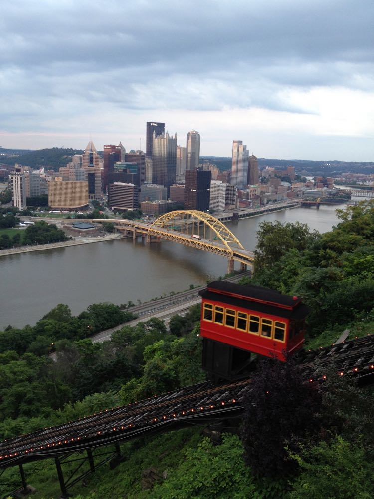 Pittsburgh PA daytime view from Duquesne Incline