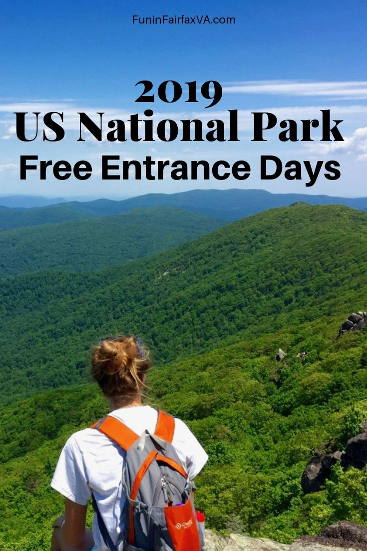 2019 National Park Free Entrance Days and parks to visit near Washington DC and Northern Virginia