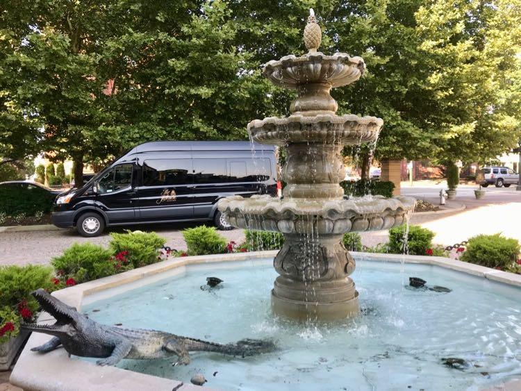 Fountain alligator The Jefferson hotel Richmond VA