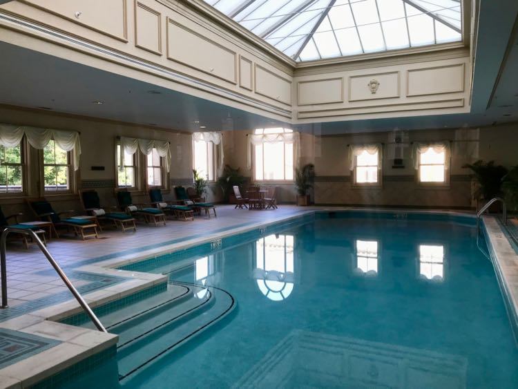 Indoor pool at The Jefferson hotel Richmond VA