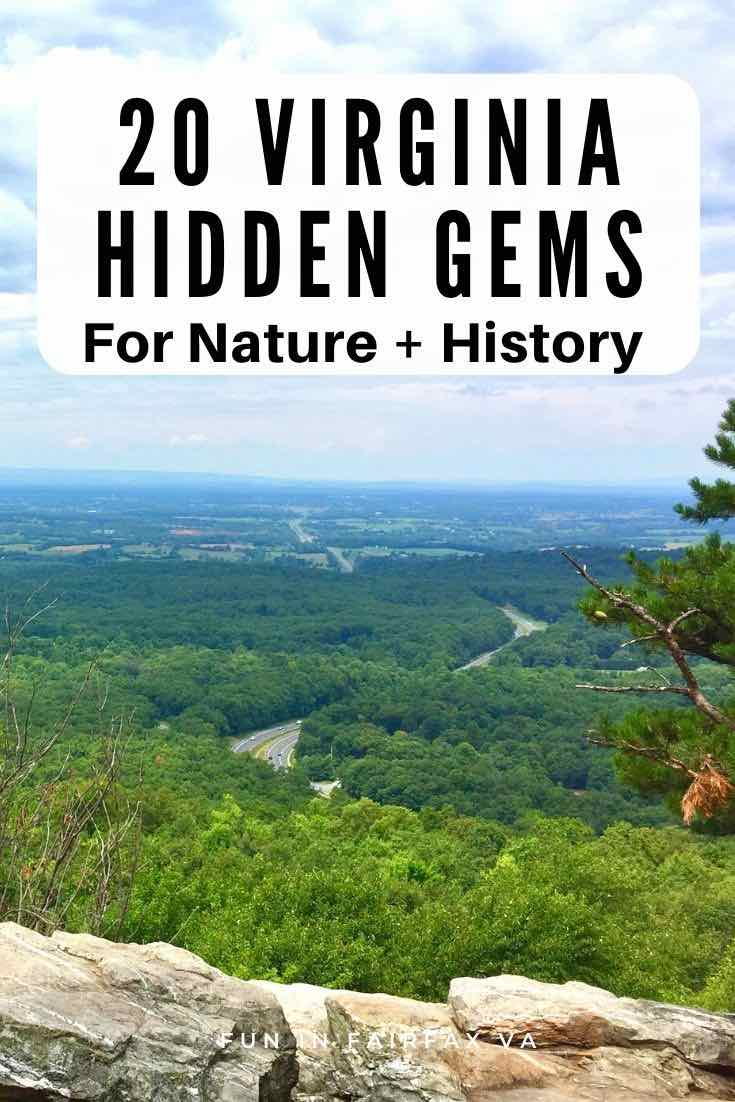 20 Virginia hidden gems for nature and history lovers, perfect for a day trip near Washington DC.