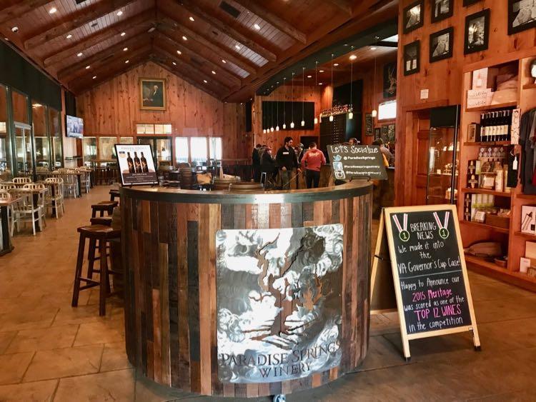Paradise Springs Winery in Clifton VA
