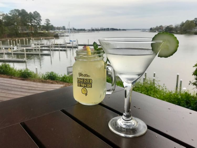 Cocktails with a view at the Tides Inn Irvington VA