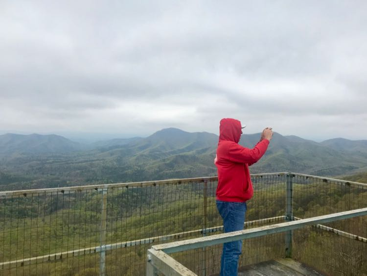 Catching the view from Big Walker Lookout tower in Wytheville SWVA