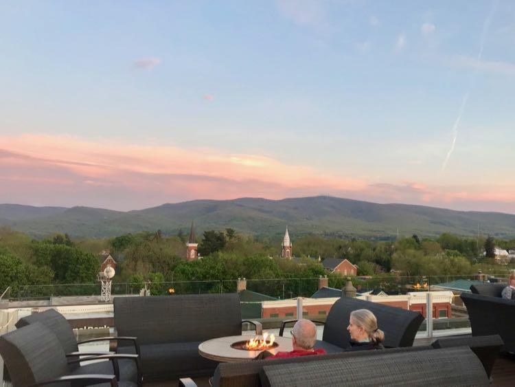 Bolling Wilson Hotel rooftop sunset Wytheville VA