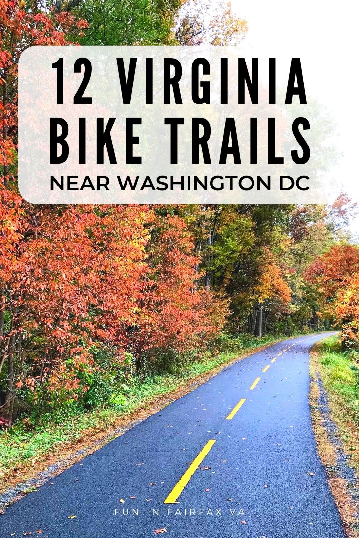 12 Northern Virginia bike trails near Washington DC for paved and mountain biking.
