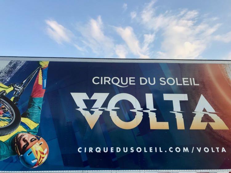 Cirque du Soleil Volta DC sign