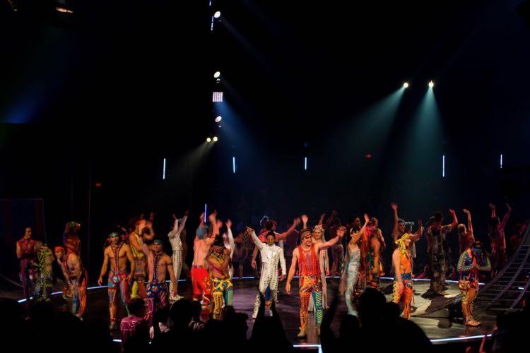 Cirque du Soleil Volta performers take a curtain call