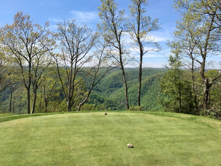 Stunning views surround Primland's mountain top golf course