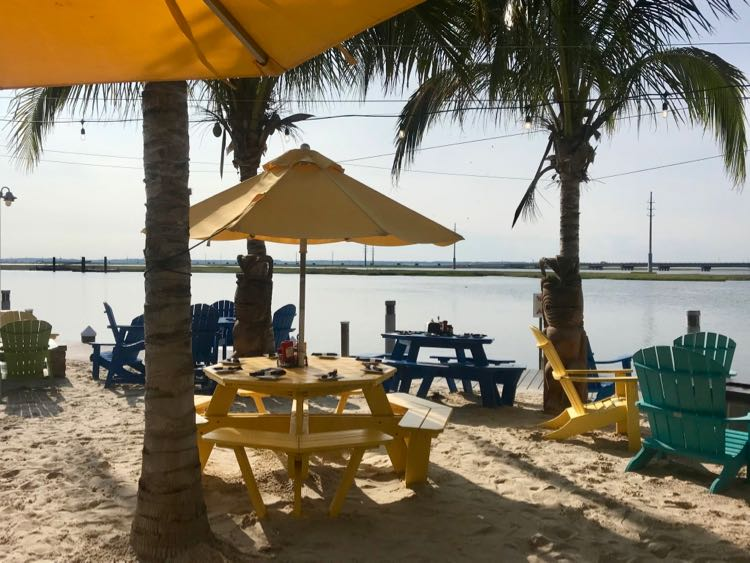 Dine with toes in the sand at Ropewalk in Chincoteague VA