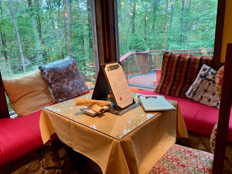 Enjoy lunch, dinner, and special events surrounded by nature at Treetops in Polymath Park PA