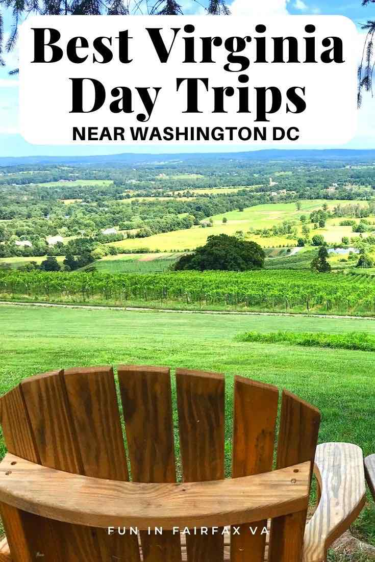 Best Virginia day trips near Washington DC for nature, history, wineries, breweries, quaint towns, and more.