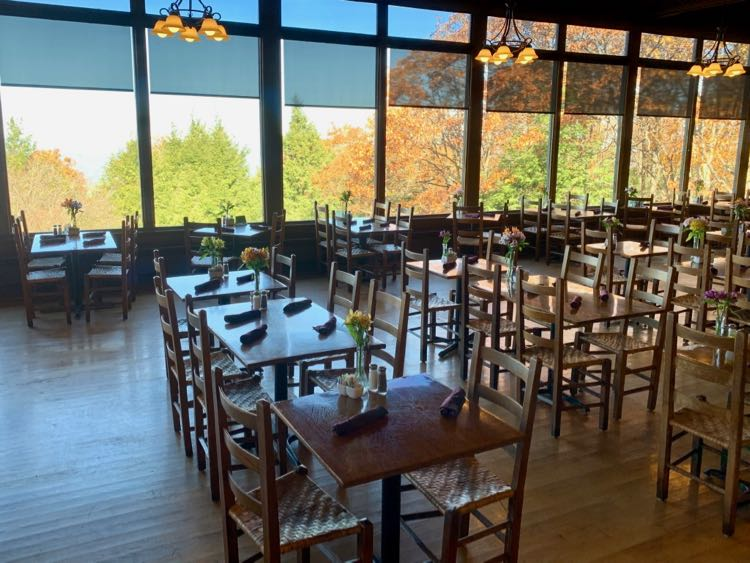 Enjoy fall foliage with a meal in the Skyland Dining Room Shenandoah NP
