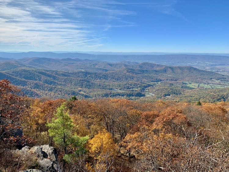 Westward view from Blackrock Shenandoah NP
