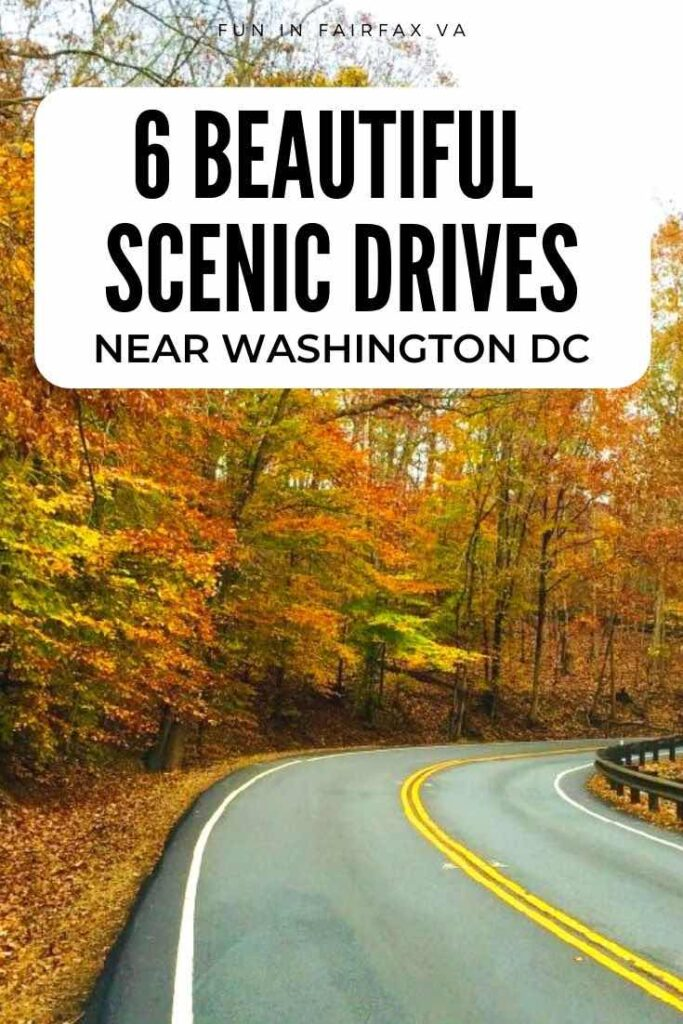 6 beautiful scenic drives near Washington DC with stops and activities perfect for a Virginia day trip.