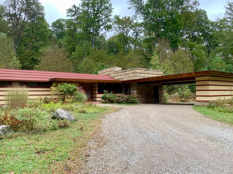 Frank Lloyd Wright's Duncan House is available for a stay at Polymath Park PA