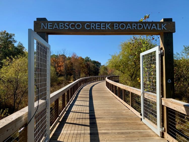 Fall foliage at Neabsco Creek Boardwalk