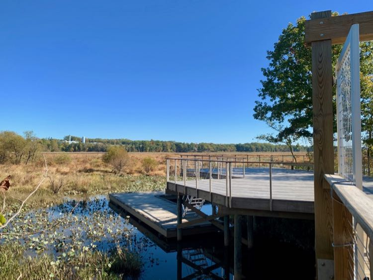 South platform of Neabsco Creek Boardwalk Trail