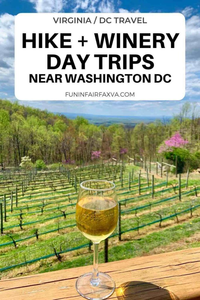 Hike and Winery Day Trips Near Washington DC combine outdoor adventure and Virginia wine in Northern VA. #Virginia #winery #hiking