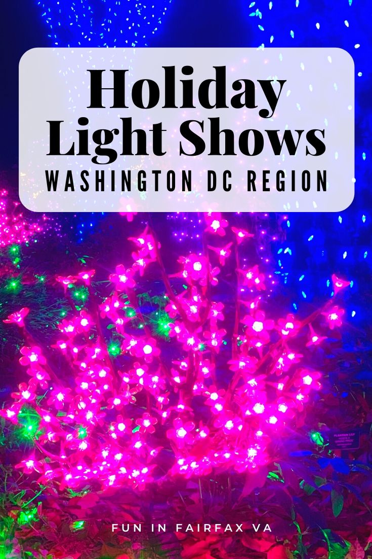 Holiday lights in Washington DC and Northern Virginia region include dazzling holiday displays, Christmas tree lightings, and family fun.