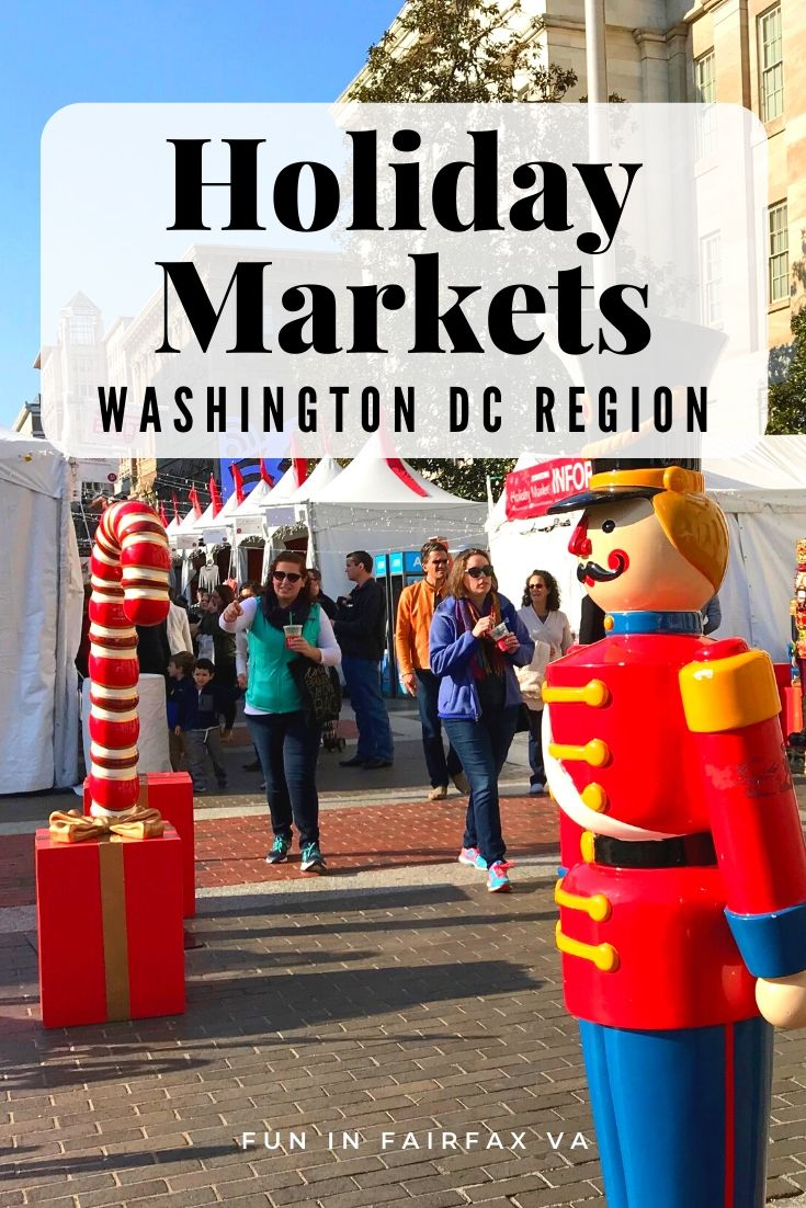Holiday markets in Northern Virginia and the Washington DC region are a fun and festive way to shop for local gifts while celebrating the Christmas season.