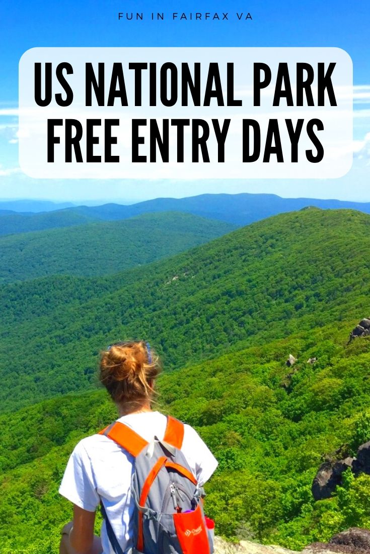 US National Park Free Entrance Days and parks to visit near Washington DC and Northern Virginia