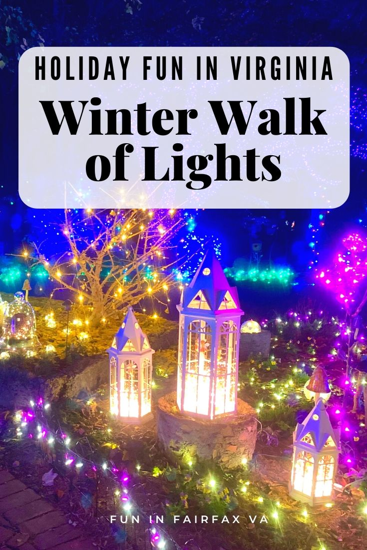 Winter Walk of Lights is a beautiful walk-through holiday light show in Northern Virginia, close to Washington DC