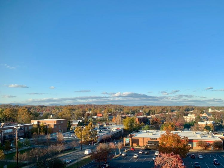 Fall view from The Residence Inn Charlottesville Downtown