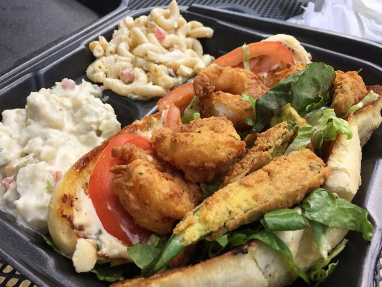 Shrimp po'boy from Foods of All Nations